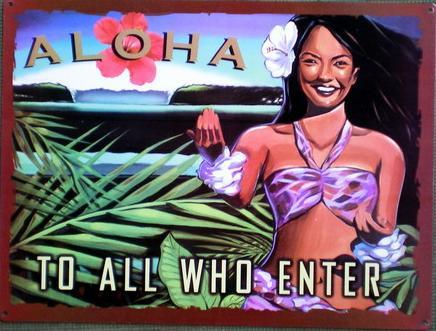 【円高還元SALE】ハワイアン看板/ALOHA
