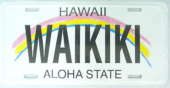 【ハワイアン雑貨・最安値を目指します】ハワイアン看板/ナンバープレート・ワイキキ