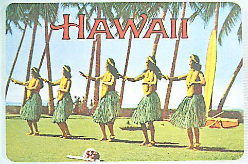ハワイアン・ヴィンテージポストカード/フラガール01