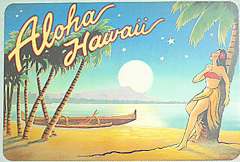 ハワイアン・ヴィンテージポストカード/フラガール03