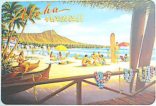 ハワイアン・ヴィンテージポストカード/ビーチ