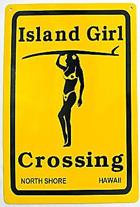ハワイアン看板/Island Girl