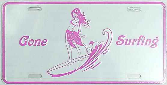 【ハワイアン雑貨・最安値を目指します】ハワイアン看板/Gone Surfing