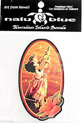 ハワイアン・ステッカー/フラガール