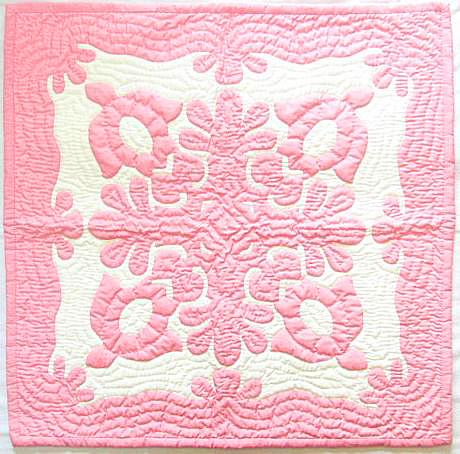 ハワイアンキルトタペストリー/壁掛け(ホヌP2)