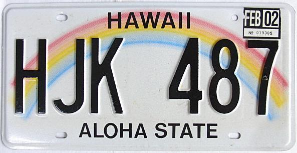 ハワイ・ナンバープレート/USED5