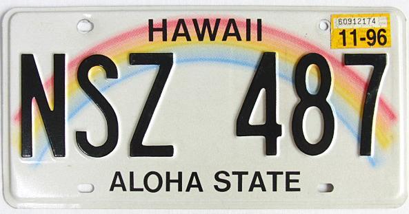 ハワイ・ナンバープレート/USED4