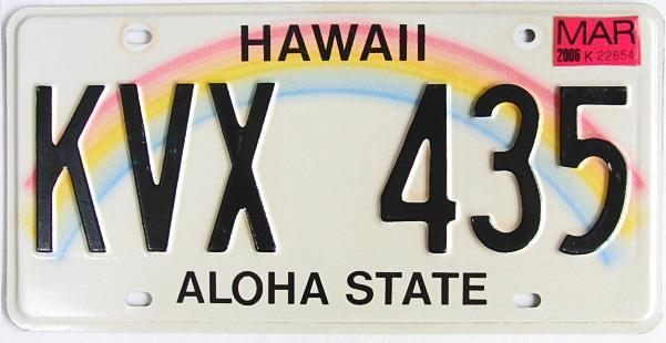 ハワイ・ナンバープレート/USED3