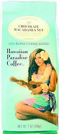 ハワイアンパラダイス・コナコーヒー/チョコレートマカダミアナッツ/粉タイプ7oz(198g)