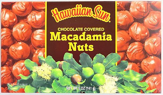 【次回入荷未定・在庫限り】ハワイアンサン・マカデミアナッツチョコレート5oz(141g)