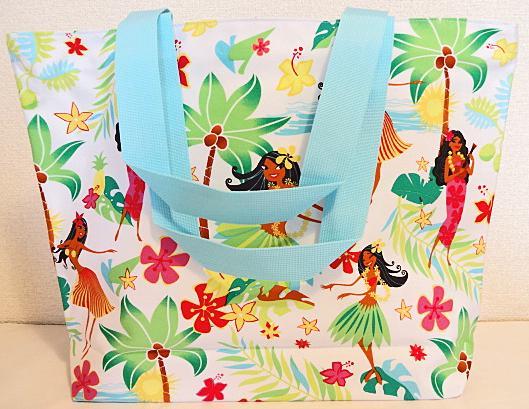 【ハワイアン雑貨・最安値を目指します】ハワイアン・トートバッグ(フラハニー)