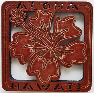 【ハワイアン雑貨・最安値を目指します】ハワイアン・コースター/ハイビスカス70406