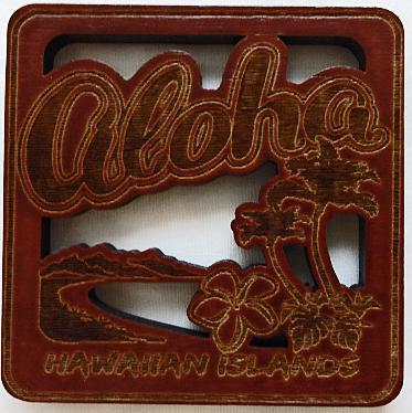 【ハワイアン雑貨・最安値を目指します】ハワイアン・コースター/ALOHA