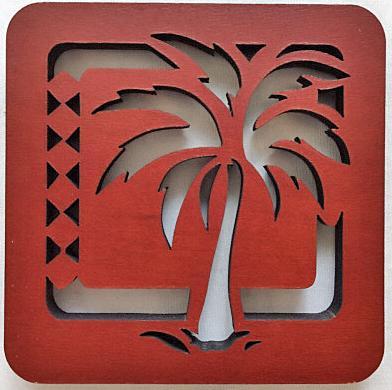 【ハワイアン雑貨・最安値を目指します】ハワイアン・コースター/椰子の木