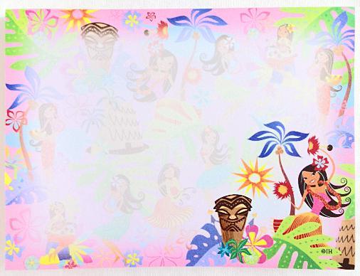 【ハワイアン雑貨・最安値を目指します】ハワイアンスティックノート/フラTIKI