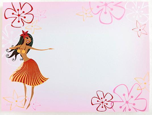 【ハワイアン雑貨・最安値を目指します】ハワイアンスティックノート/フラガール
