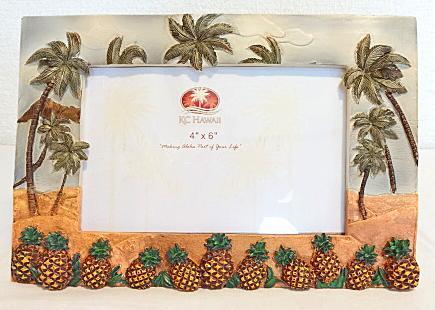 【ハワイアン雑貨・最安値を目指します】ハワイアン・フォトフレーム(写真立て)/パイナップル
