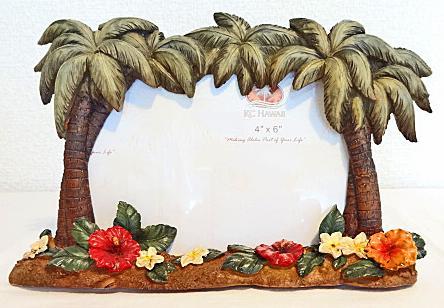 【ハワイアン雑貨・最安値を目指します】ハワイアン・フォトフレーム(写真立て)/パームツリーL
