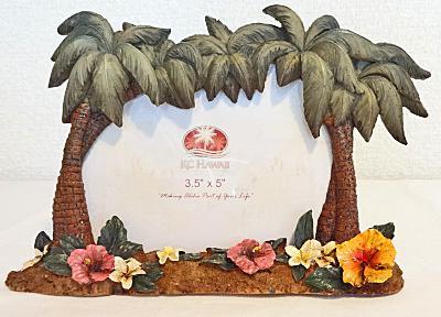 【ハワイアン雑貨・最安値を目指します】ハワイアン・フォトフレーム(写真立て)/パームツリーM