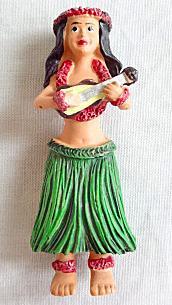 【ハワイアン雑貨・最安値を目指します】ハワイアンマグネット/フラウクレレ40081