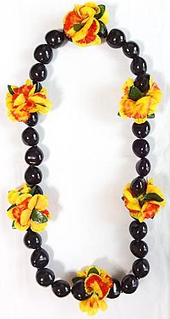 【ハワイアン雑貨・最安値を目指します】ククイナッツレイ/ブラックククイ・イリマ Ilima