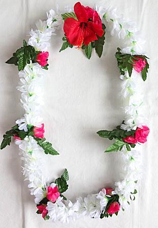 【ハワイアン雑貨・最安値を目指します】ハワイアンレイ/ピカケローズ・コンボ PikakeRose・Combo13350