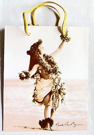 【ハワイアン雑貨・最安値を目指します】ハワイアン・ギフトバッグ・紙袋/ハワイアンM
