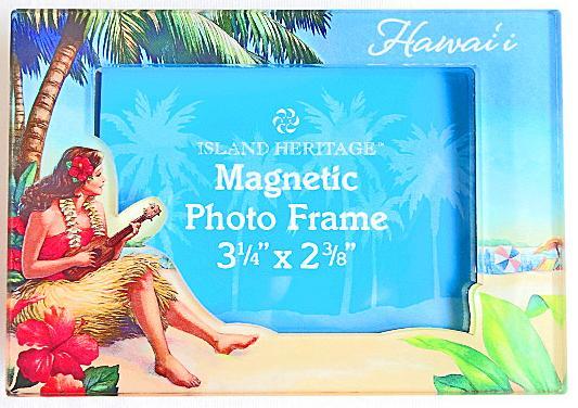 【ハワイアン雑貨・最安値を目指します】ハワイアンマグネット・フォトフレーム/フラガール