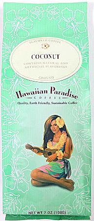 ハワイアンパラダイス・コナコーヒー/ココナッツ/粉タイプAD7oz(198g)