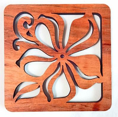 【ハワイアン雑貨・最安値を目指します】ハワイアン・コースター/プルメリア70381