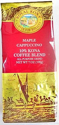 ロイヤルコナコーヒー・メープルカプチーノ7oz(198g)
