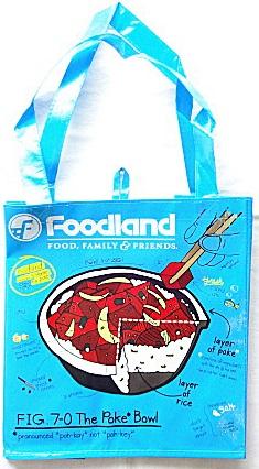 【ハワイ限定・Foodland】フードランド・エコバッグ/Poke Bowl