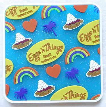 【ハワイ限定・Eggs'n Things】エッグスンシングス・ハワイアンコースター/ブルー