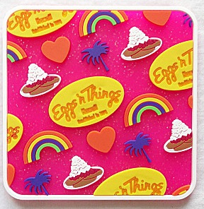 【ハワイ限定・Eggs'n Things】エッグスンシングス・ハワイアンコースター/ピンク