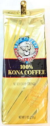 ライオンコーヒー・100%コナコーヒー/KONA・24KARAT・粉タイプAD(198g)