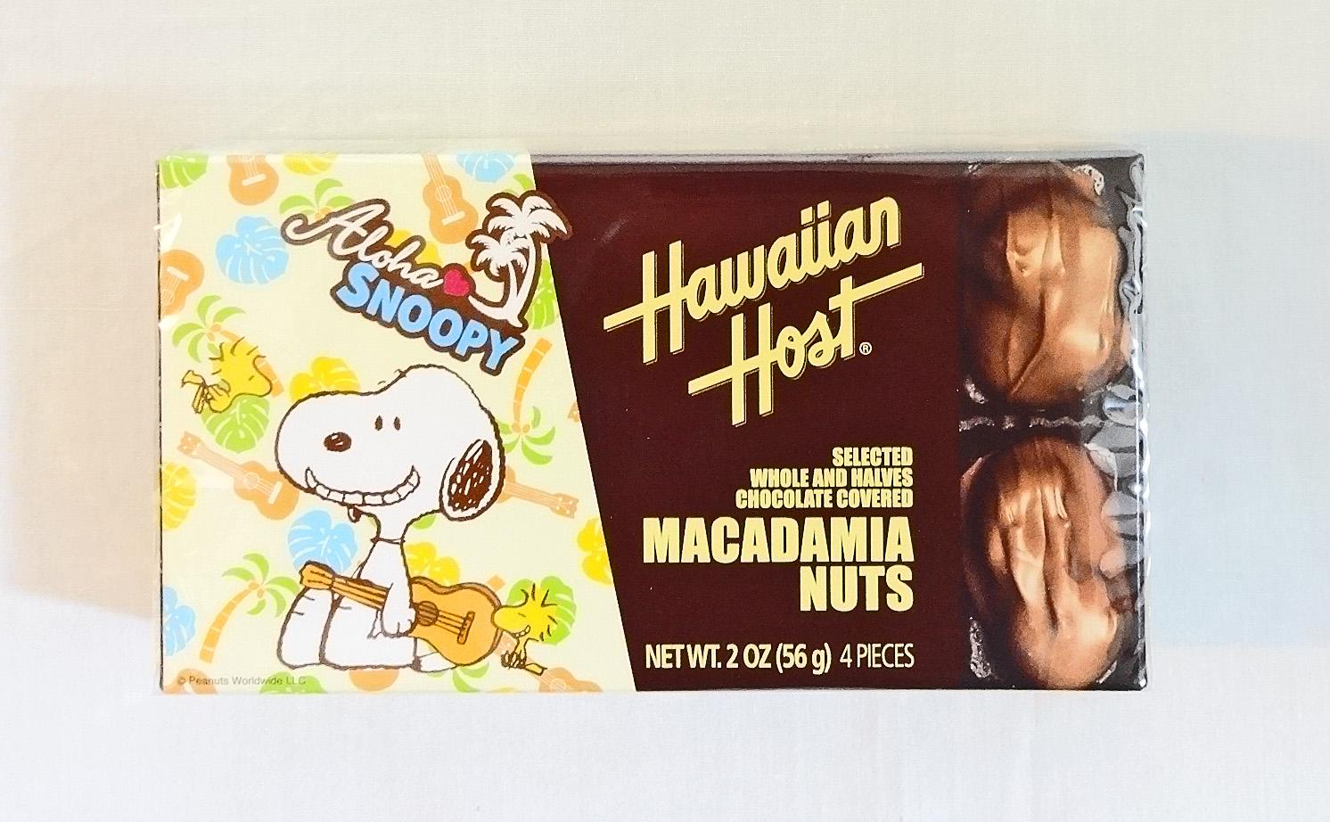 ハワイアンホースト・マカダミアナッツチョコレート/スヌーピー2oz(4粒入り)