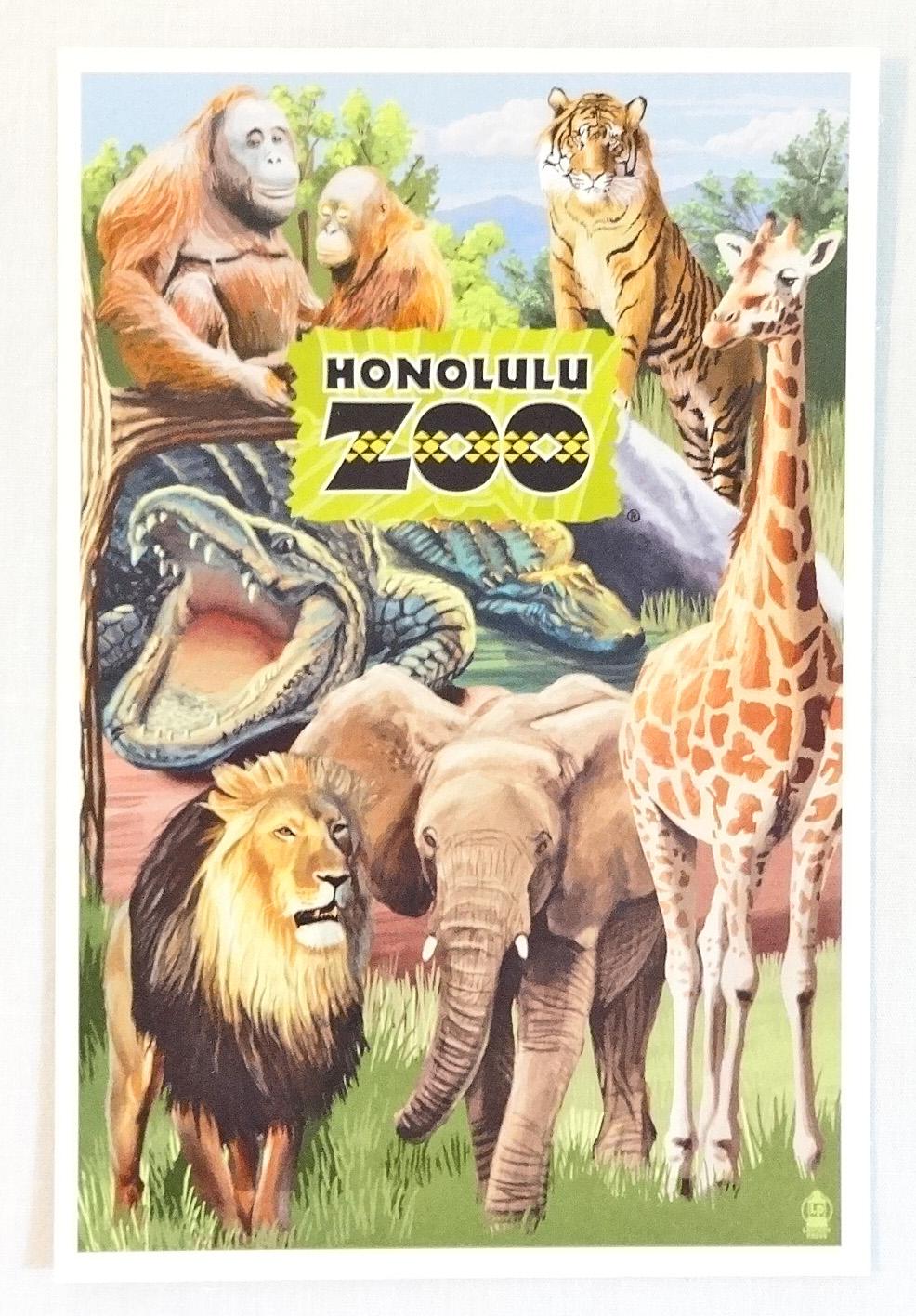 【ホノルルZOO限定】ハワイアン・ポストカード/Zoo Montage