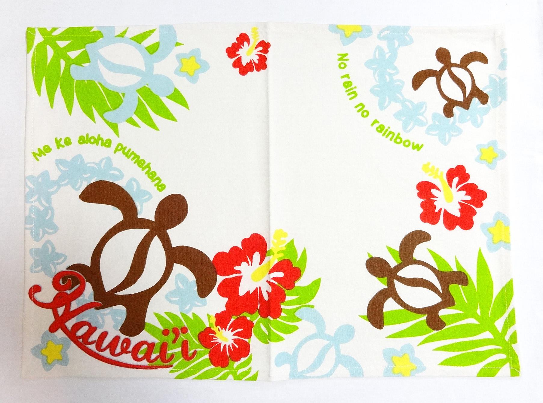 ハワイアンランチョンマット/メケホヌ・ホワイト