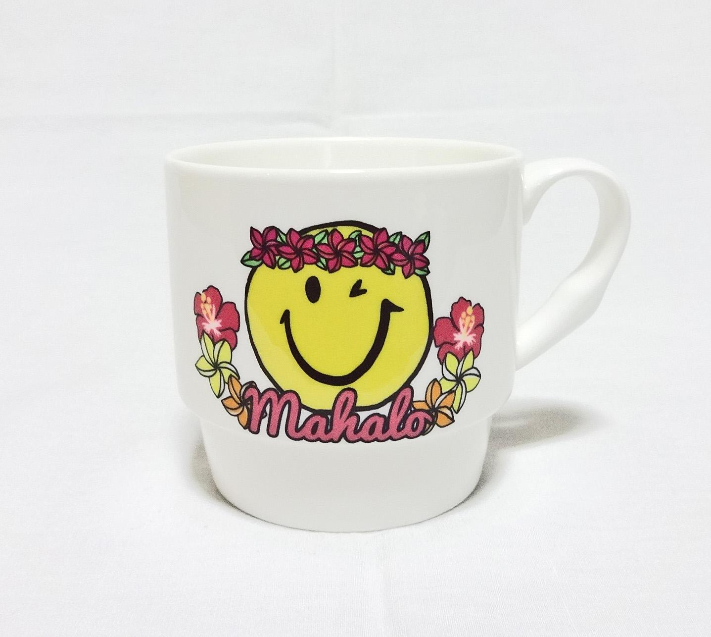 ハワイアンマグカップ/アロハスマイル/ピンク