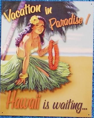 【円高還元SALE】ハワイアン看板/Hawaiian Paradise