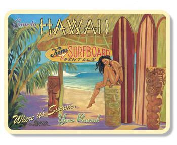 ハワイアンマグネット/SURFBOARD RENTALS
