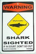 ハワイアン看板/Shark2