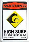 ハワイアン看板/HIGH SURF