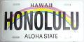 【ハワイアン雑貨・最安値を目指します】ハワイアン看板/ナンバープレート・ホノルル