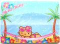 【在庫限りの激安特価】ハローキティ☆ハワイ限定スティックノート/ナイトビーチ