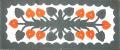 【送料無料】ハワイアンキルト・テーブルランナー/Anthurium2