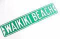【現品限り】ハワイアン看板/ワイキキビーチサインプレート