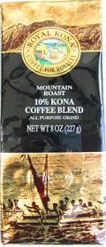 【増量版】ロイヤルコナコーヒー/マウンテンロースト・粉タイプAD8oz(227g)