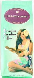 ハワイアンパラダイス・100%コナコーヒー/豆タイプWB 7oz(198g)