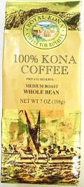 ロイヤル・コナコーヒー/ 100% コナコーヒー・豆タイプWB・7oz(198g)